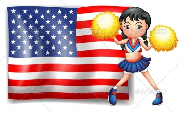 GraphicRiver USA Cheerleader 7891755