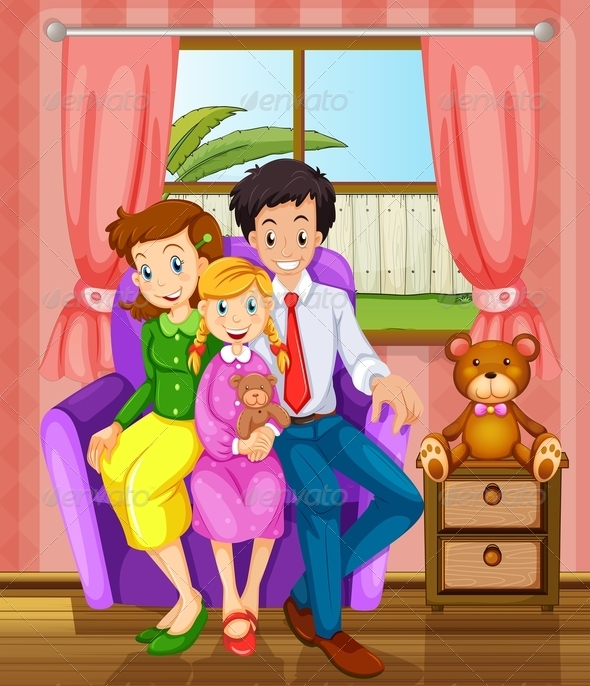 GraphicRiver Smiling family indoors 7891853