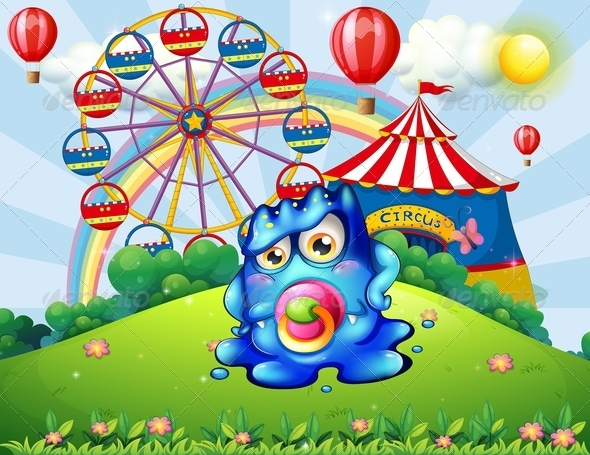 GraphicRiver Baby monster at the carnival 7891854