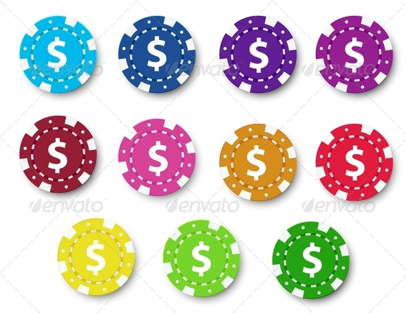 GraphicRiver Poker chips collection 7891858