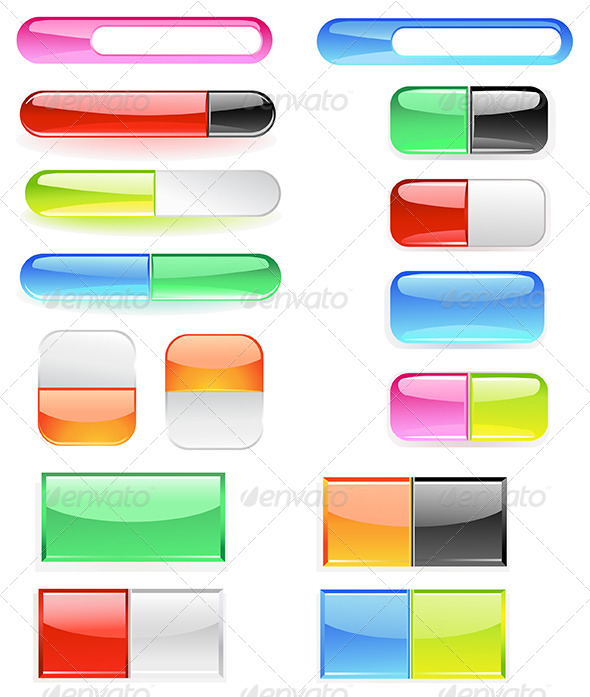 GraphicRiver Banner is Divided into Two Buttons 7844207