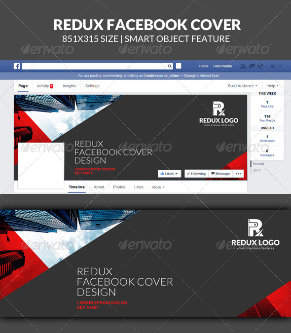 GraphicRiver Redux Corporate Facebook Timeline Cover 7892096