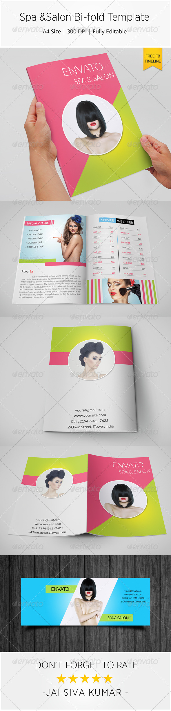 GraphicRiver Spa & Salon Bi-fold Brochure Template 7892252