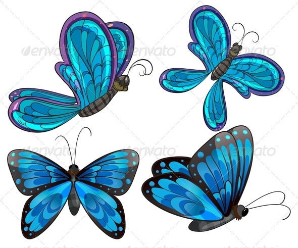 GraphicRiver Four Butterflies 7892257