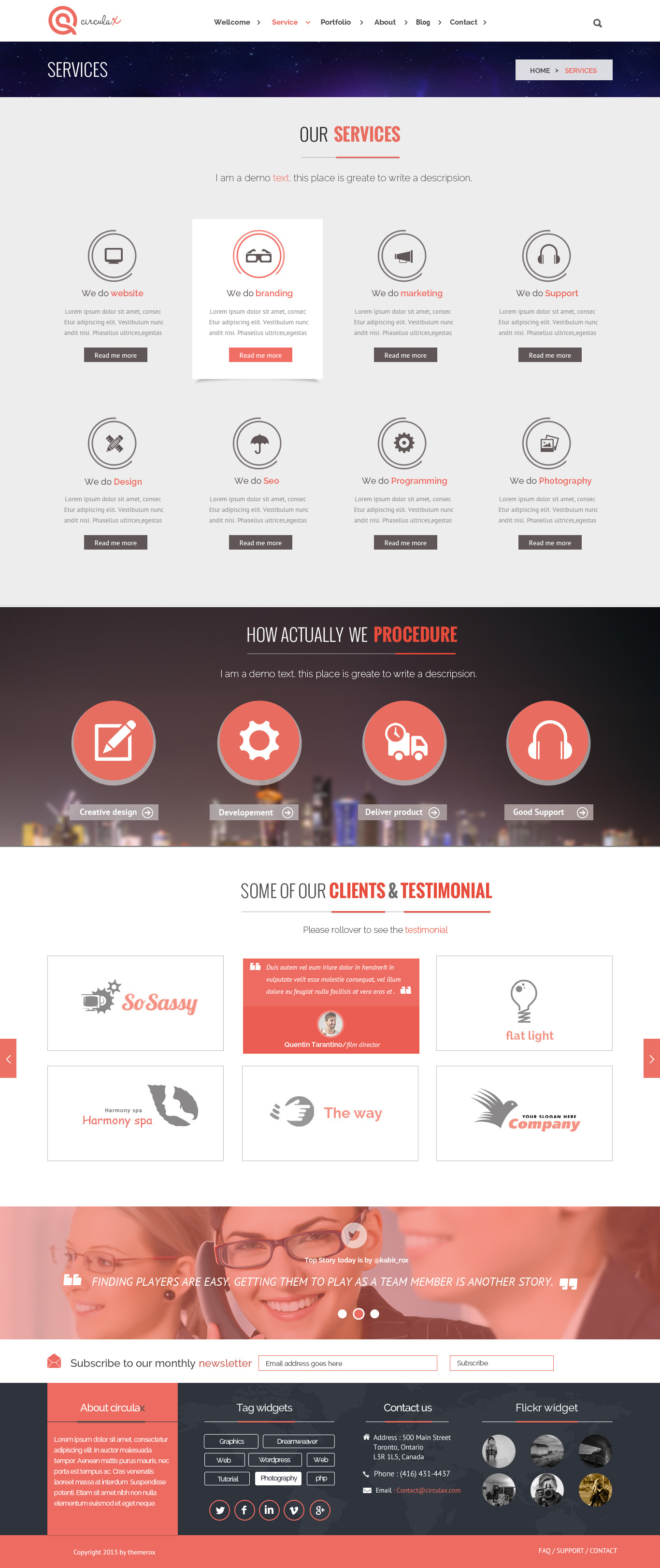 CirculaX Responsive HTML5 Template