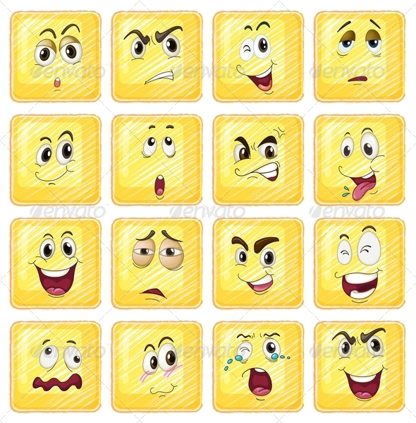 GraphicRiver Different facial expressions 7892308