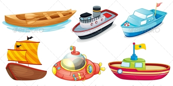 GraphicRiver Set of Boats 7892309