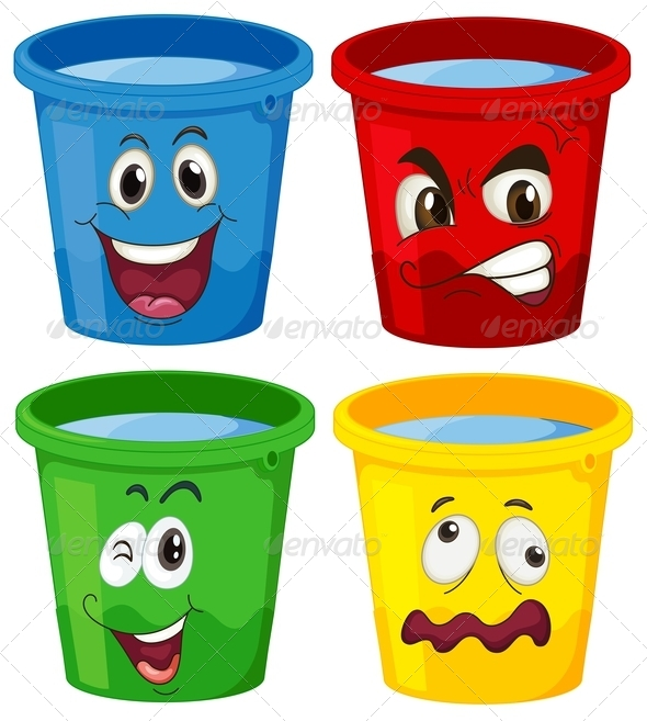 GraphicRiver Buckets with faces 7892327