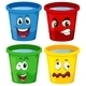 Buckets with faces