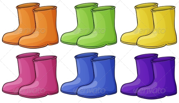 GraphicRiver Set of Colorful Boots 7892337