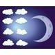 Sky with Clouds and Moon - GraphicRiver Item for Sale