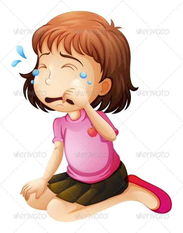 GraphicRiver Little Girl Crying 7892350