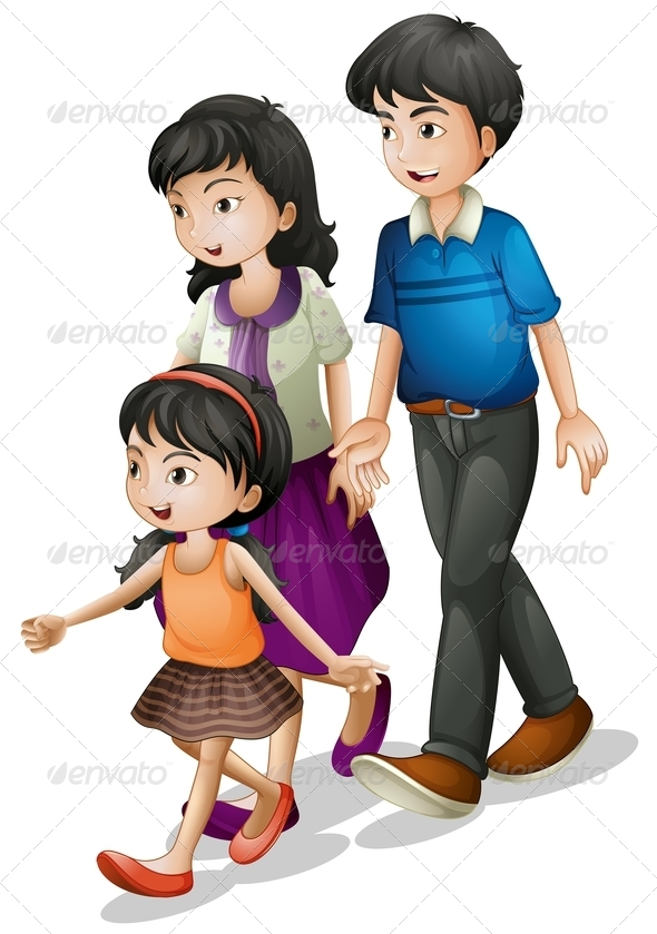 GraphicRiver Family Walking 7892401