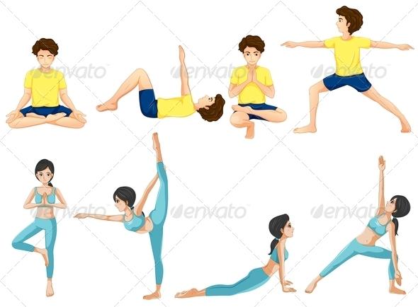 GraphicRiver Yoga Poses 7892522