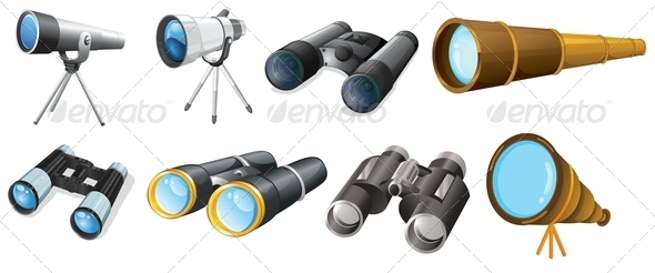 GraphicRiver Set of Eight Telescope 7892701