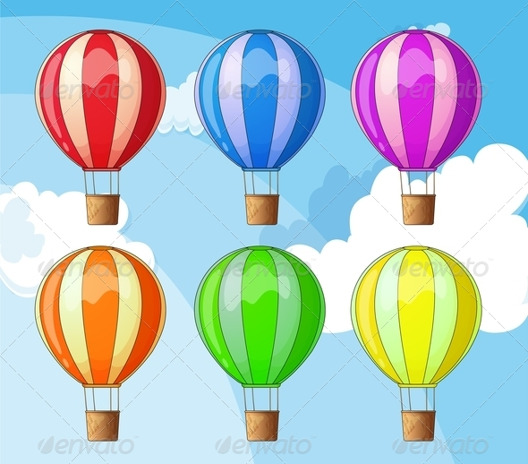 GraphicRiver Floating Balloons 7892844