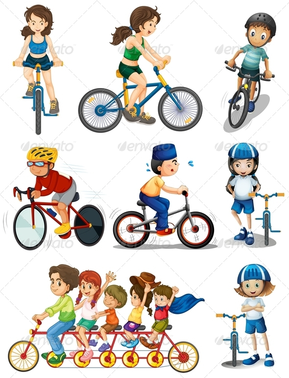 GraphicRiver People Biking 7892848