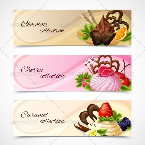 GraphicRiver Sweets Banners Horizontal 7892983
