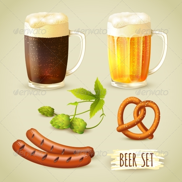 GraphicRiver Beer and Snacks Set 7893054