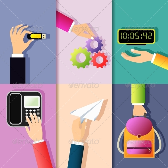 GraphicRiver Business Hands Icons 7893057