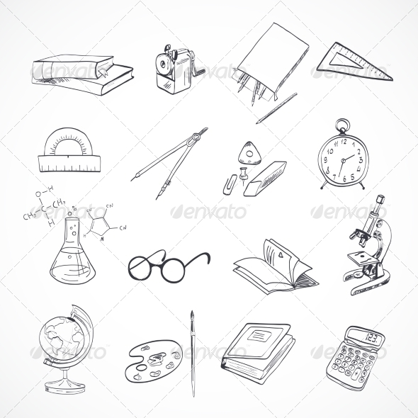 GraphicRiver Education Icon Doodle 7893063