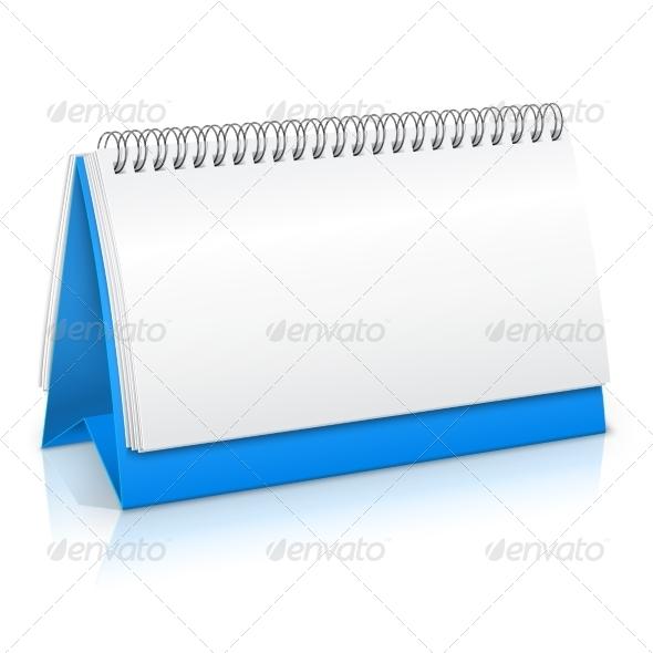 GraphicRiver Paper Calendar Mockup 7893084