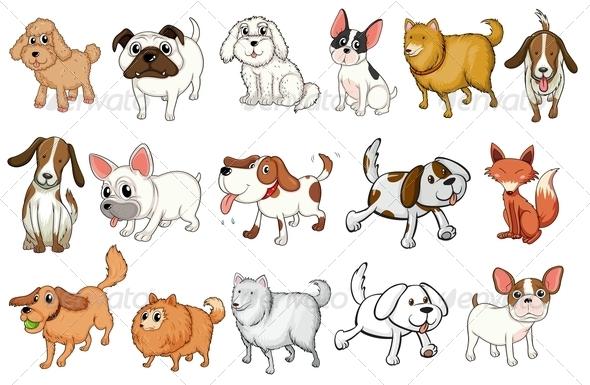 GraphicRiver Set of Dog Breeds 7893085