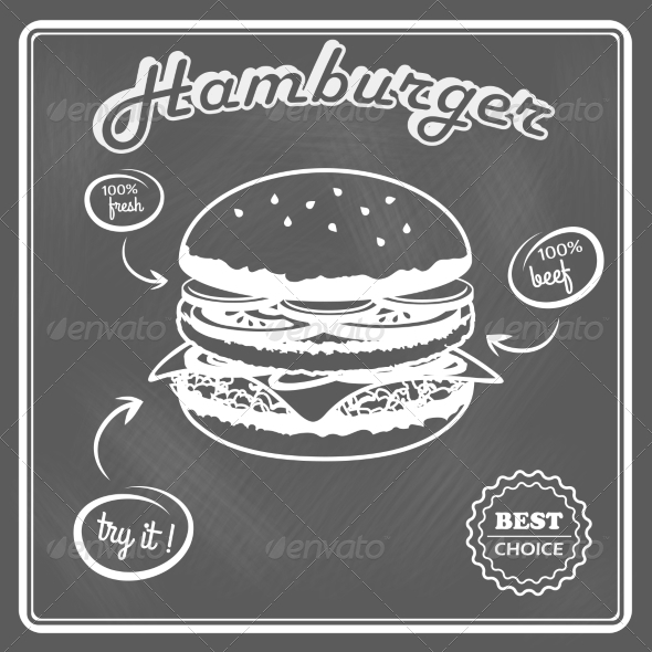 GraphicRiver Hamburger Retro Poster 7893090