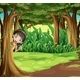 Girl Hiding in the Forest - GraphicRiver Item for Sale