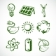 Green Energy Sketch Icons - GraphicRiver Item for Sale