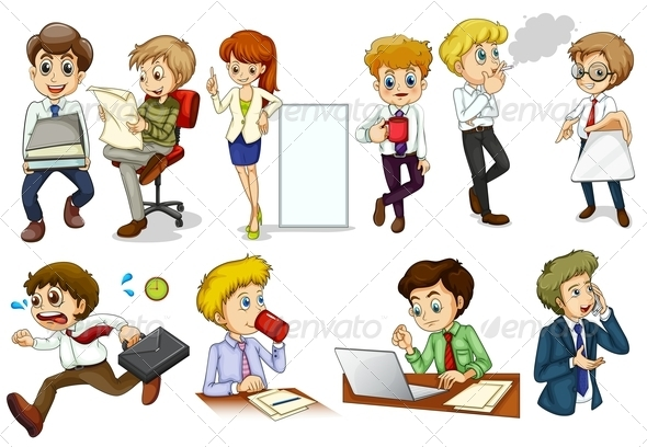 GraphicRiver Activities of Business People 7893100