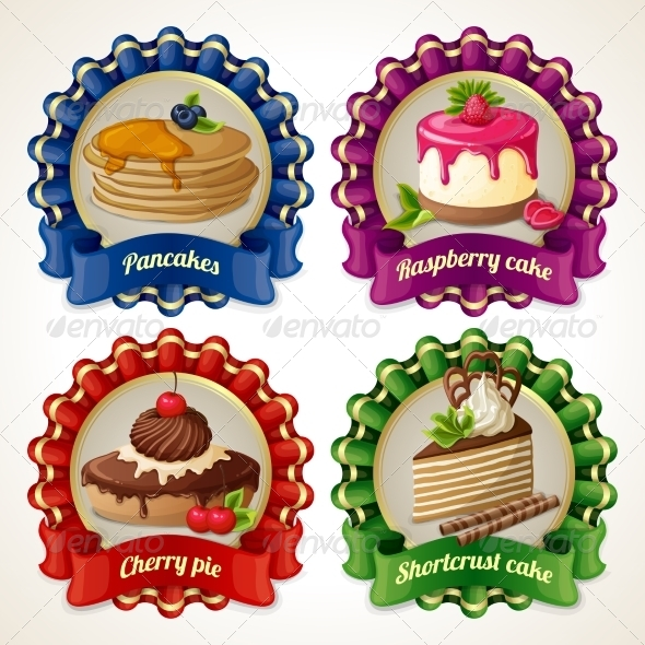 GraphicRiver Sweets Ribbon Banners 7893122