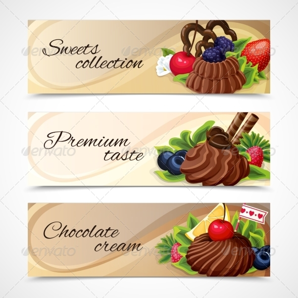 GraphicRiver Horizontal Sweets Banners 7893154