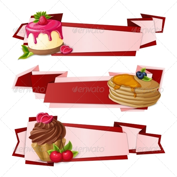 GraphicRiver Sweets Paper Banners 7893162