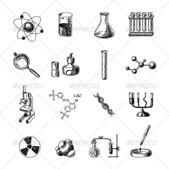 GraphicRiver Chemistry Icons Set 7893167