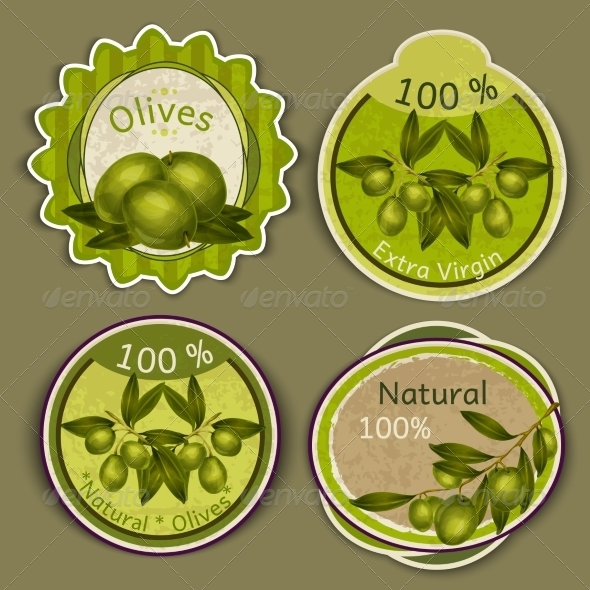 GraphicRiver Olive Oil Labels 7893184