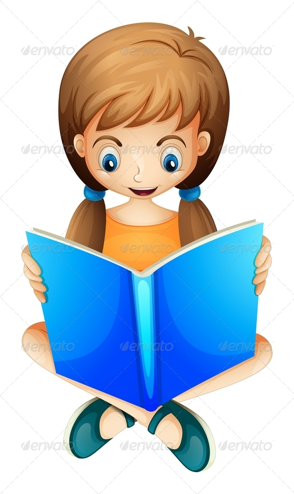 GraphicRiver Reading Girl 7893198