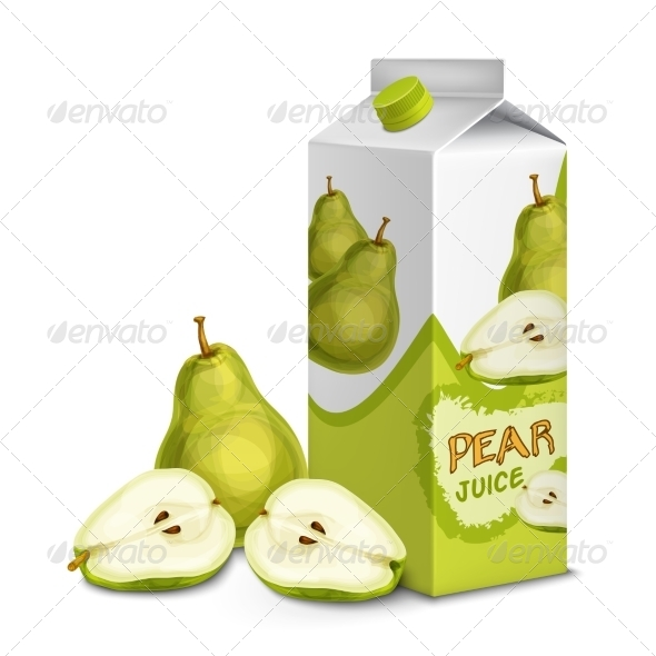 GraphicRiver Juice Pack Pear 7893205