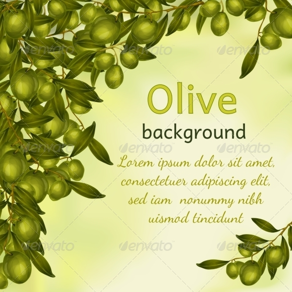 GraphicRiver Olive oil background 7893221