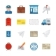 Post Service Icons Flat - GraphicRiver Item for Sale