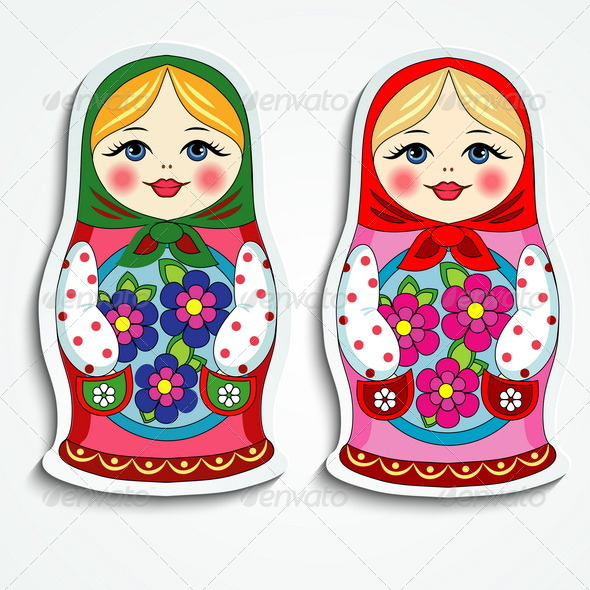 GraphicRiver Russian Doll Sticker 7893282