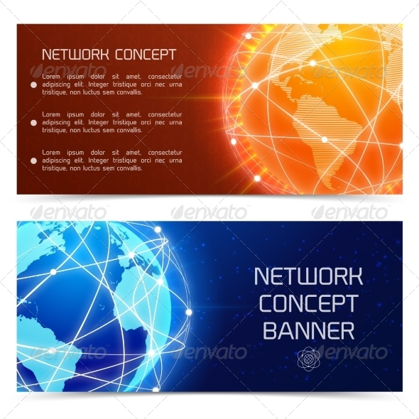 GraphicRiver Network Globe Concept Banners 7893375