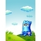 Blue Monster on Hilltop