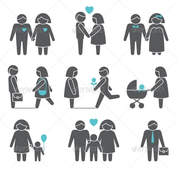 GraphicRiver Women and Men Icons Set 7893415