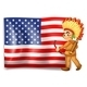 Young Indian and USA Flag - GraphicRiver Item for Sale