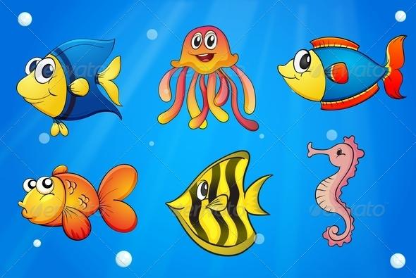 GraphicRiver Colorful Sea Creatures 7893427