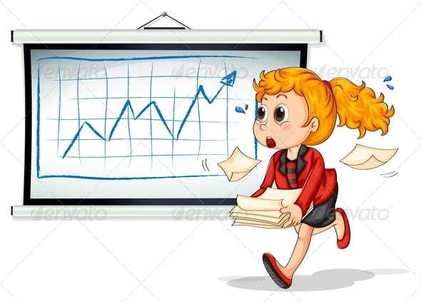 GraphicRiver Busy Woman with Chart 7893432