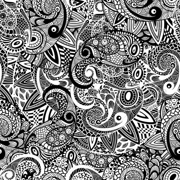 GraphicRiver Seamless Paisley Doodle Pattern 7893453