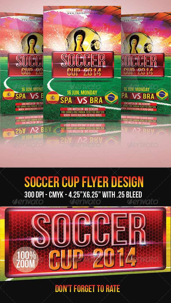 GraphicRiver Soccer Cup Flyer 7893475