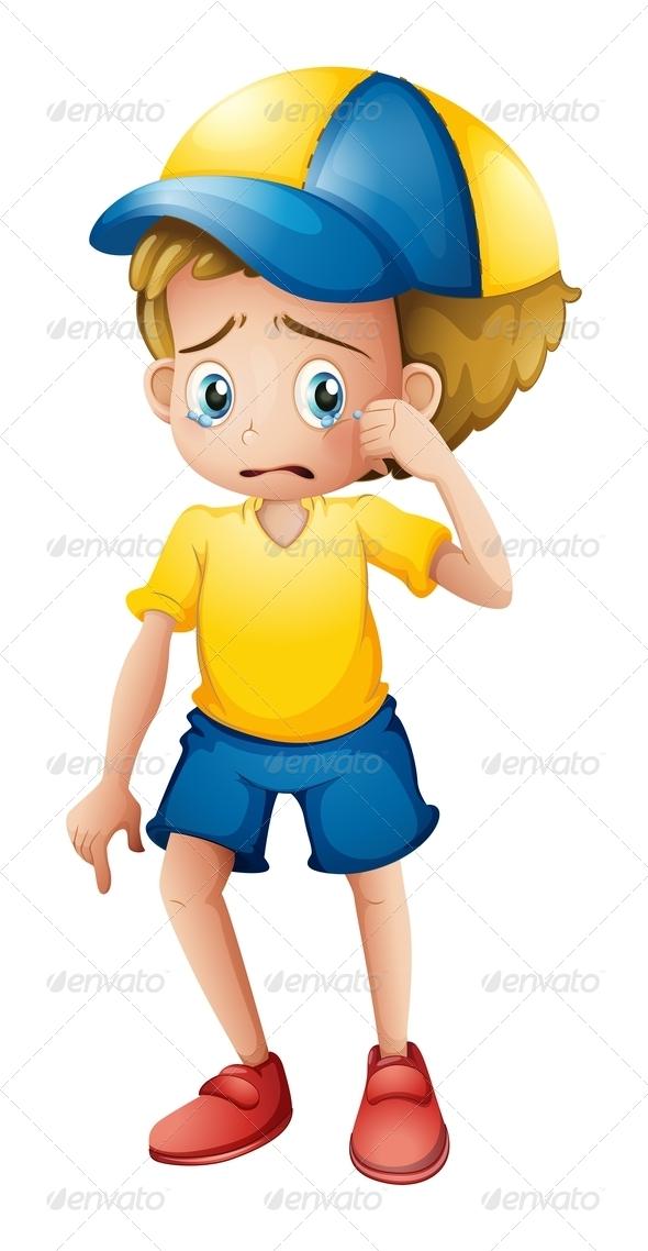 GraphicRiver Young Boy Sobbing 7893519